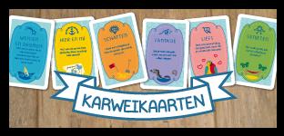 Karweikaarten-knop