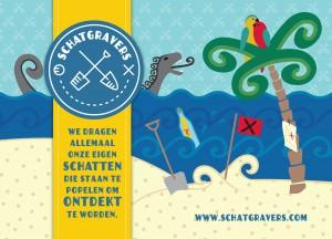 Schatgravers-Ansichtkaart Schateiland-2